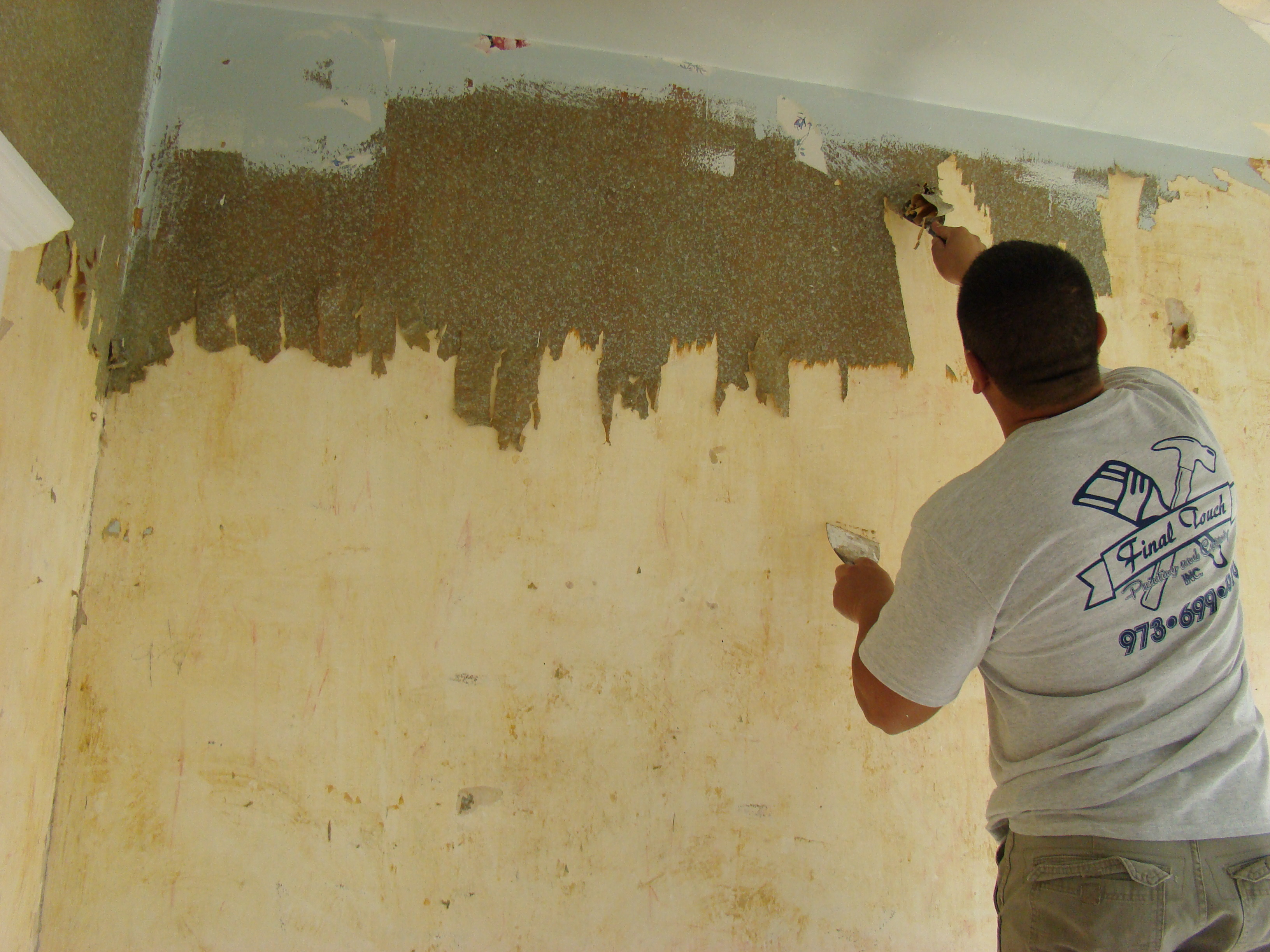 westfield nj interior wall paper removal final touch painting